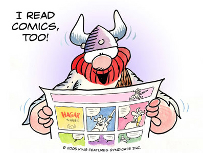 Hägar reads comics too